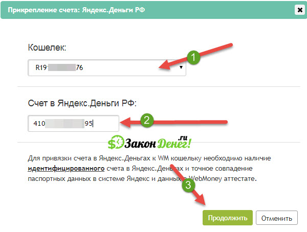 Перевод средств с Яндекс деньги на Вебмани: привязка кошельков и перечисление