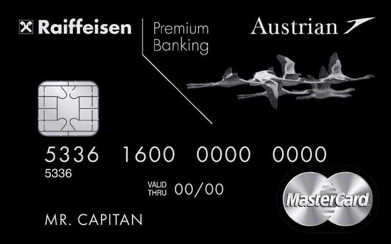 карта райффайзенбанка Austrian Airlines